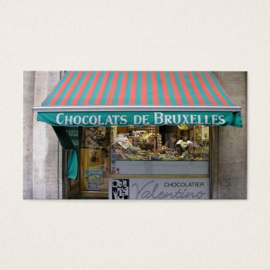 Chocolatier, Brussels, Belgium Business Card