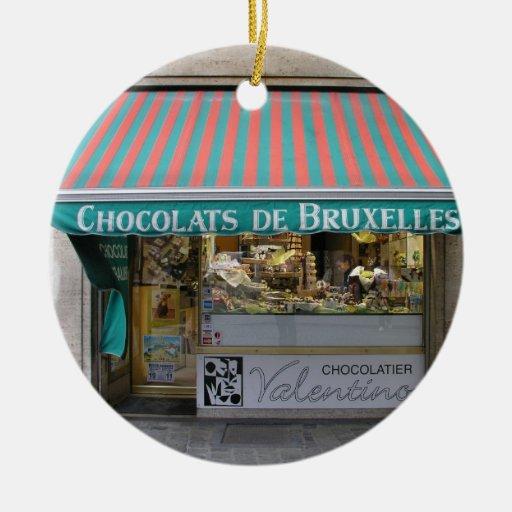 Chocolatier, Brussels, Belgium Christmas Ornaments