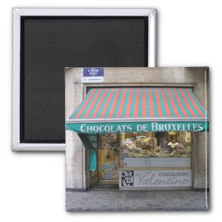 Chocolatier, Brussels, Belgium 2 Inch Square Magnet