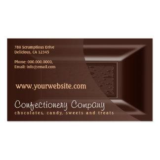 Chocolatier Business Cards Creamy Dark Chocolate