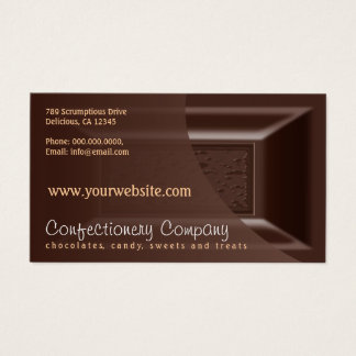 Chocolatier Business Cards Creamy Dark Chocolate