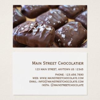 Chocolatier Chocolate Bon Bon Candy Shop Foodie Business Card