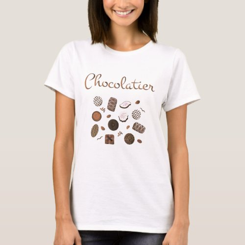 Chocolatier Chocolate Candies T_Shirt