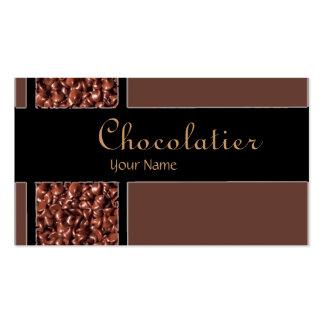 Chocolatier chocolate chips custom business cards