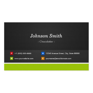 Chocolatier - Professional and Premium Double-Sided Standard Business Cards (Pack Of 100)