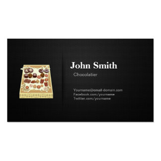 Chocolatier - Professional Premium Black Mesh Double-Sided Standard Business Cards (Pack Of 100)
