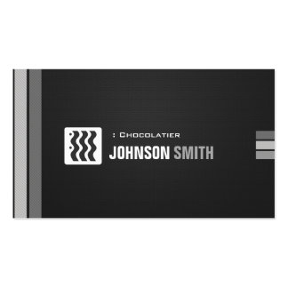 Chocolatier - Urban Black White Double-Sided Standard Business Cards (Pack Of 100)