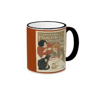 Chocolats et des thes coffee mug