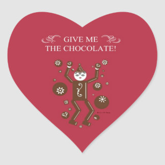 Chocolatto Heart Stickers © 2011 M. Martz