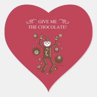 Chocolatto Heart Stickers © 2011 M. Martz