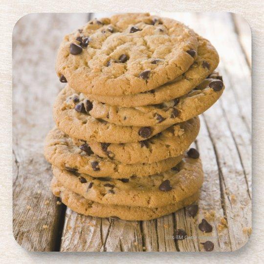 chocolte chip cookies 2 beverage coaster