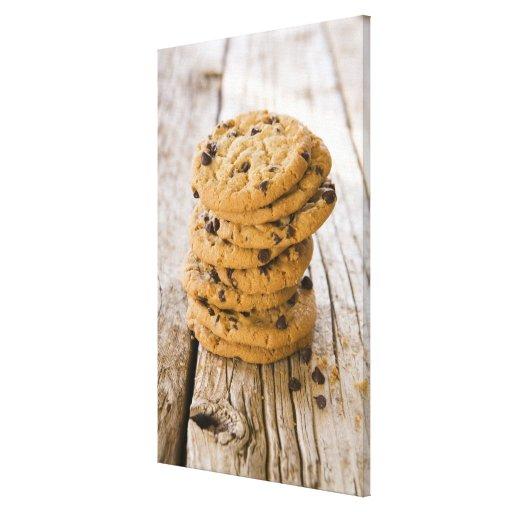 chocolte chip cookies 2 canvas print
