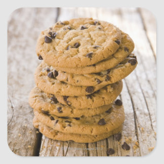 chocolte chip cookies 2 square sticker
