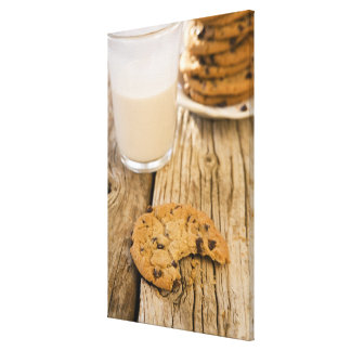 chocolte chip cookies stretched canvas print
