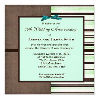 ChocoMint 50th Wedding Anniversary Personalized Invitation