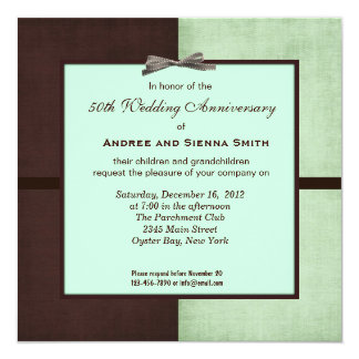 ChocoMint 50th Wedding Anniversary Personalized Announcements