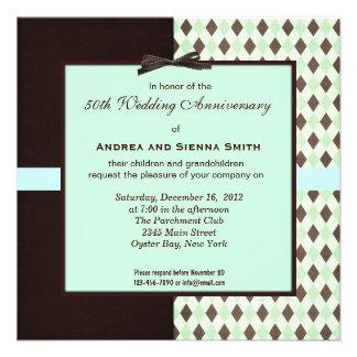 ChocoMint 50th Wedding Anniversary Personalized Invite