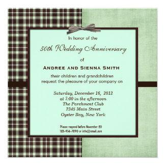 ChocoMint 50th Wedding Anniversary Invites