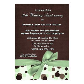 ChocoMint Wedding Anniversary Custom Announcements