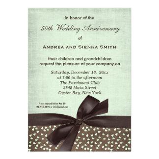 ChocoMint Wedding Anniversary Custom Invites