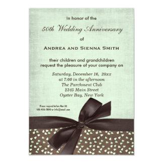 "ChocoMint Wedding Anniversary 5"" X 7"" Invitation Card"