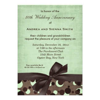 ChocoMint Wedding Anniversary Personalized Announcement