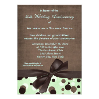 ChocoMint Wedding Anniversary Personalized Invites