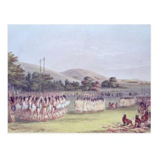 Choctaw Ball-Play Dance, 1834-35 Postcard
