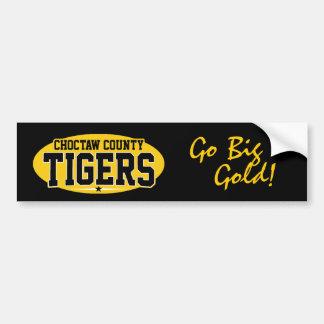 Choctaw County; Tigers Car Bumper Sticker