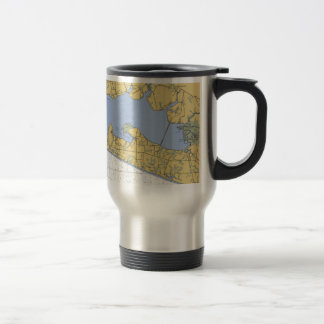 Choctawhatchee Bay, FL Nautical Chart 15 Oz Stainless Steel Travel Mug