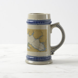 Choctawhatchee Bay, FL Nautical Chart Beer Stein