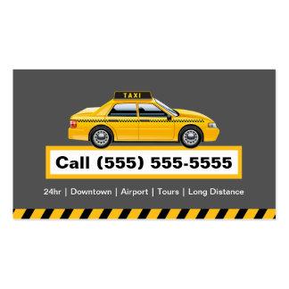 Chófer autorizado del taxista - casquillo amarillo tarjetas de visita