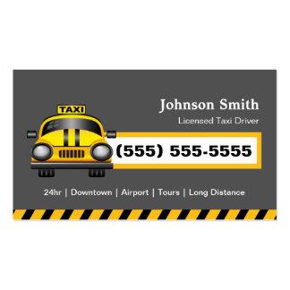Chófer urbano del taxista - casquillo amarillo tarjetas de visita