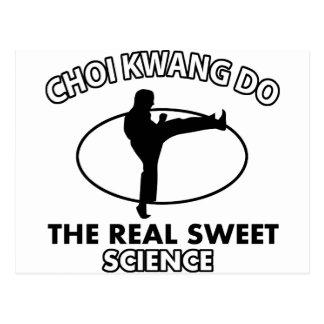 Choi Kwang-Do Martial Arts Designs Postcard
