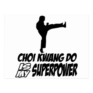 Choi kwang do martial arts designs postcard