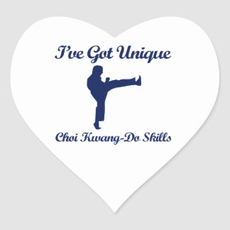 Choi Kwang-Hace los diseños del arte marcial Pegatina En Forma De Corazón