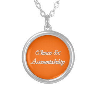 Choice & Accountability - Young Women PP value Round Pendant Necklace