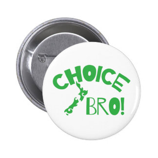Choice Bro (Kiwi New Zealand map) Button
