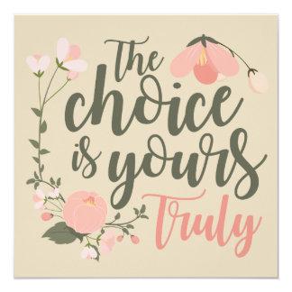 Choice invitation