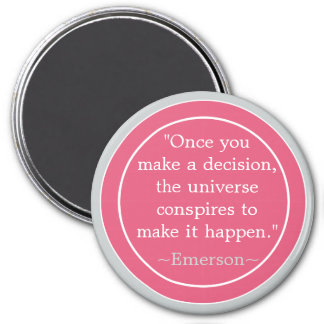 Choices Emerson Inspirational Quote 3 Inch Round Magnet