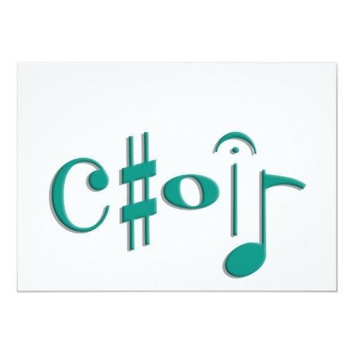 choir 5x7 paper invitation card