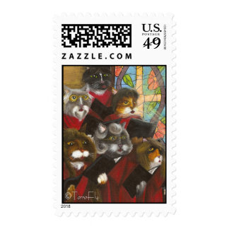 Choir Cats postage