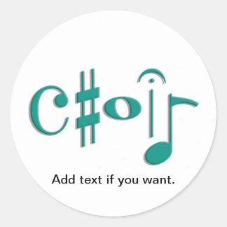 choir classic round sticker
