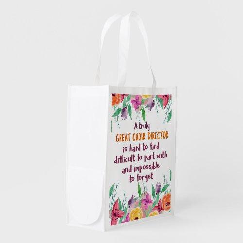 Choir Director Chorus teacher Appreciation Gift Grocery Bag