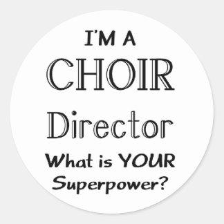 Choir director classic round sticker