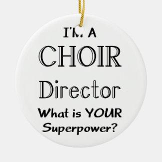 Choir director Double-Sided ceramic round christmas ornament