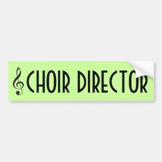 Choir Director Music Bumper Sticker Gift