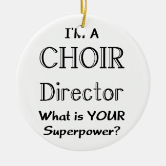 Choir director Double-Sided ceramic round christmas ornament