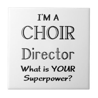 Choir director small square tile