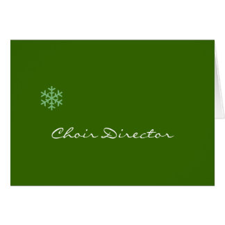 Choir Director Snowflake Card